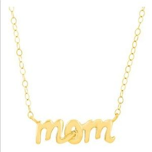 Jewelry - Just Gold 'Mom' Script Necklace in 14K Gold